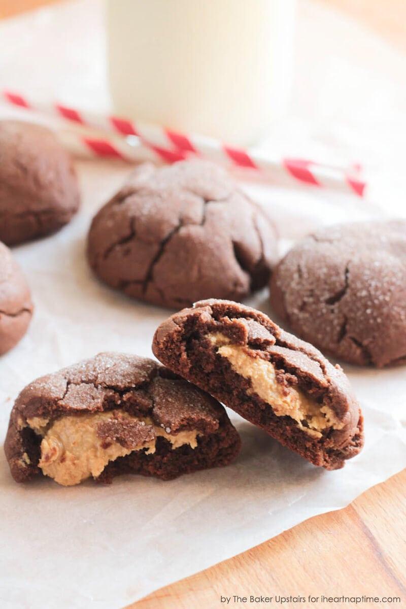 Peanut Butter Chocolate Cookies  Chocolate Fudge Peanut Butter Cookie Stuffed Cookies