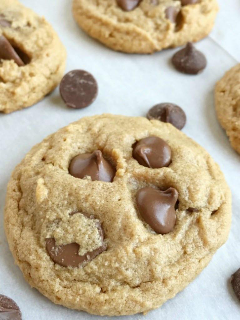 Peanut Butter Chocolate Cookies  No Flour Peanut Butter Chocolate Chip Cookies To her