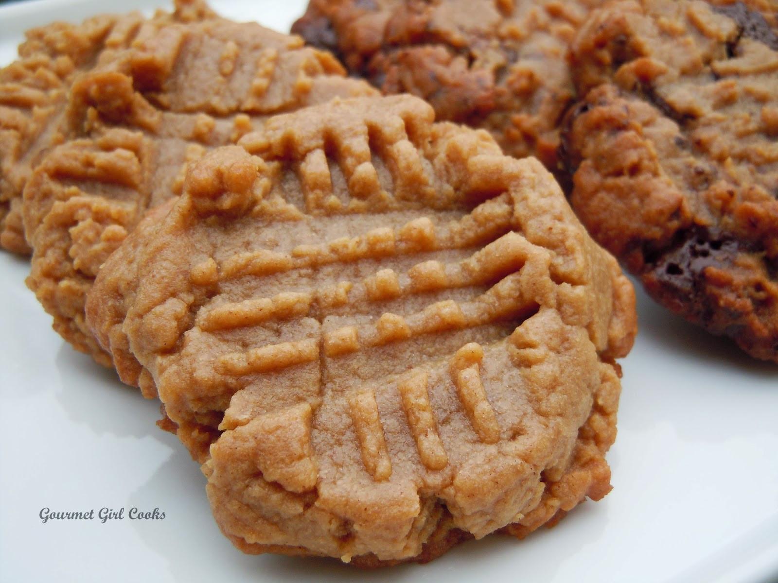 Peanut Butter Cookies Easy  Gourmet Girl Cooks Easy Peanut Butter Cookies