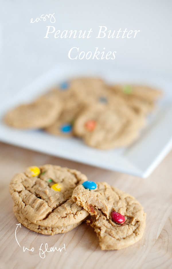 Peanut Butter Cookies No Flour  Easy – No Flour Chewy Peanut Butter Cookies