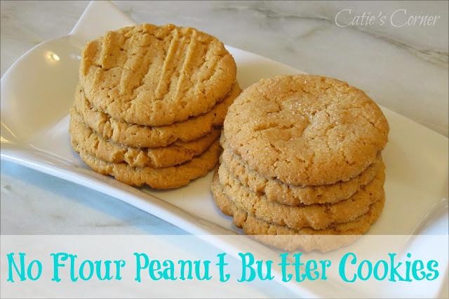 Peanut Butter Cookies No Flour  Catie s Corner No Flour Peanut Butter Cookies