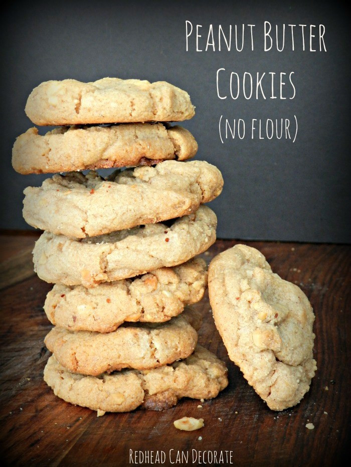 Peanut Butter Cookies No Flour  Peanut Butter Cookies no flour Redhead Can Decorate