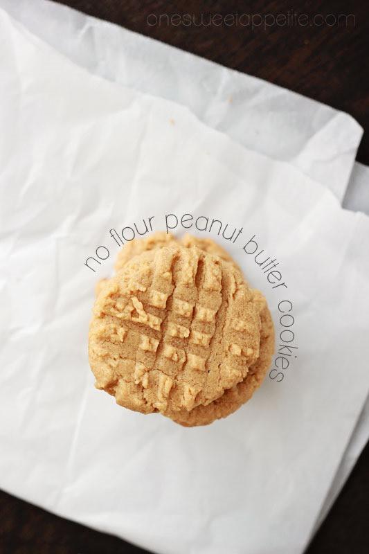 Peanut Butter Cookies No Flour  No Flour Peanut Butter Cookies e Sweet Appetite
