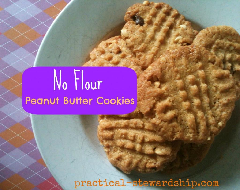 Peanut Butter Cookies No Flour  No Flour 4 Ingre nt Peanut Butter Cookies Gluten Free