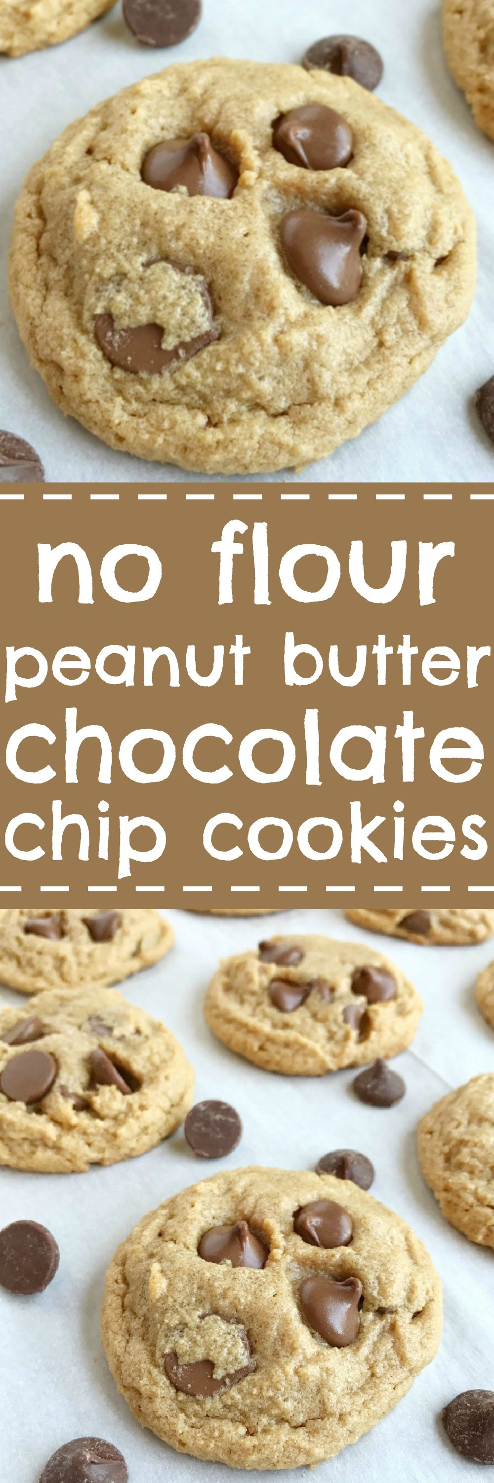 Peanut Butter Cookies No Flour  No Flour Peanut Butter Chocolate Chip Cookies To her