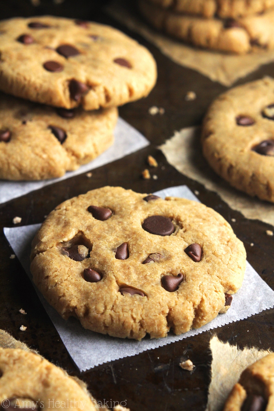 Peanut Butter Cookies With Chocolate Chips  whole wheat peanut butter chocolate chip cookies