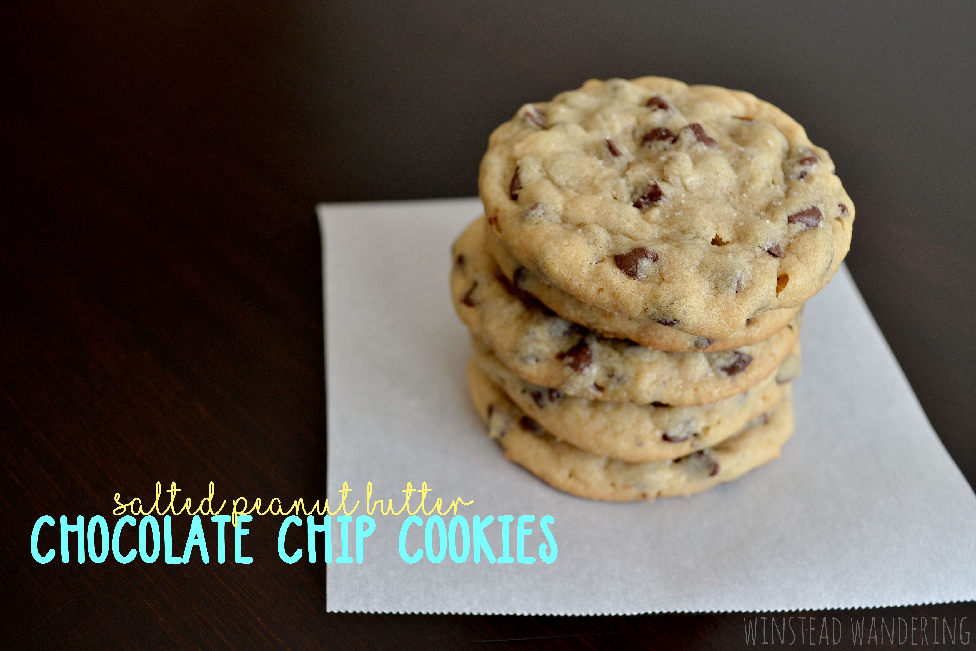 Peanut Butter Cookies With Chocolate Chips  salted peanut butter chocolate chip cookies