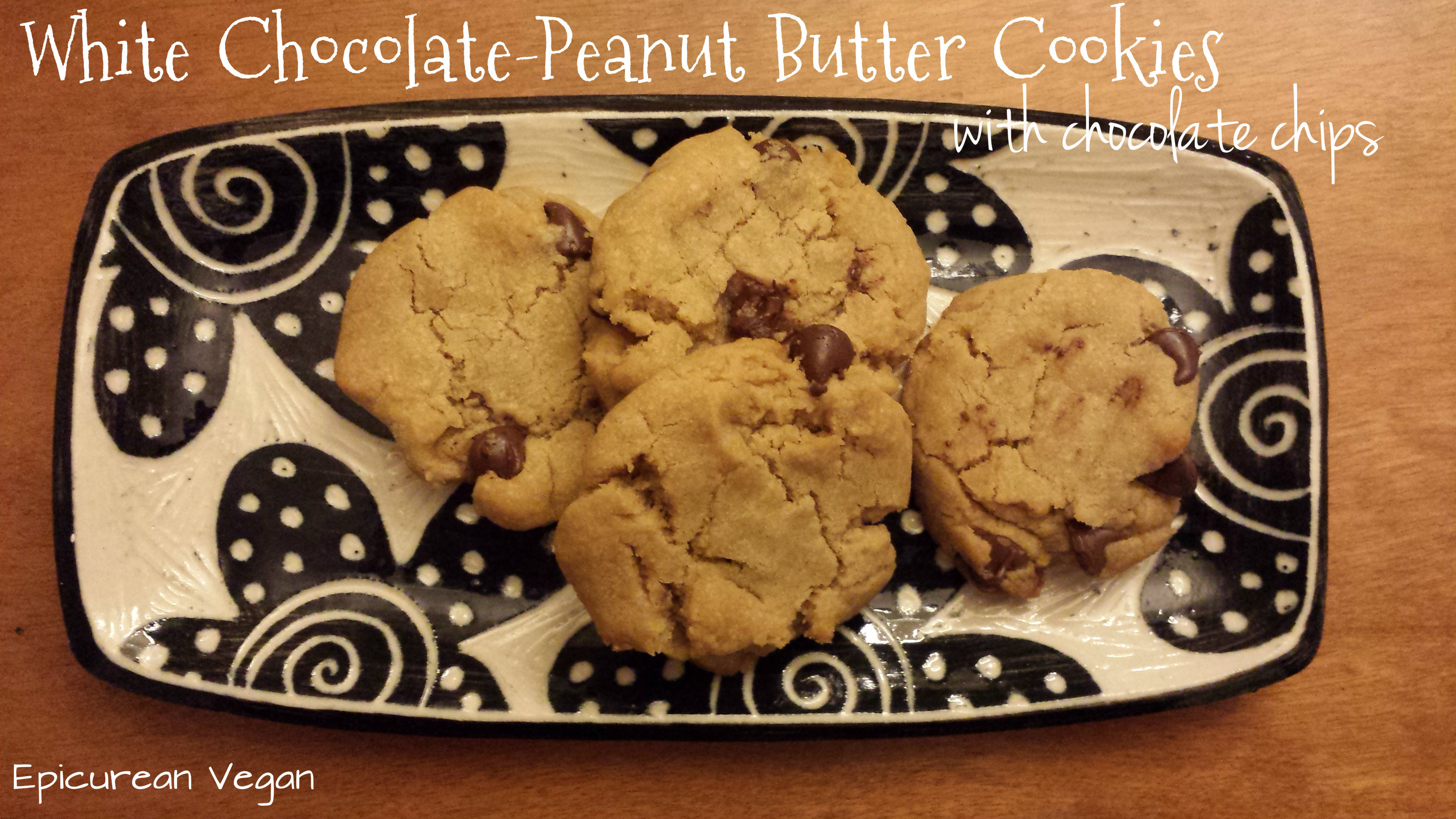 Peanut Butter Cookies With Chocolate Chips  White Chocolate Peanut Butter Cookies with Chocolate Chips