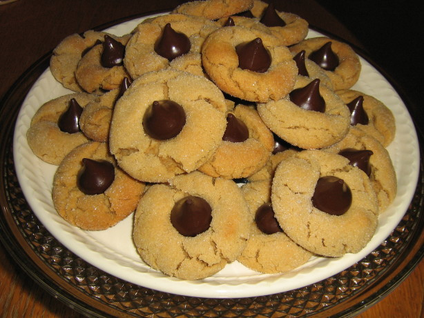 Peanut Butter Cookies With Hershey Kiss  Peanut Butter Hersheys Kisses Cookies Recipe Food