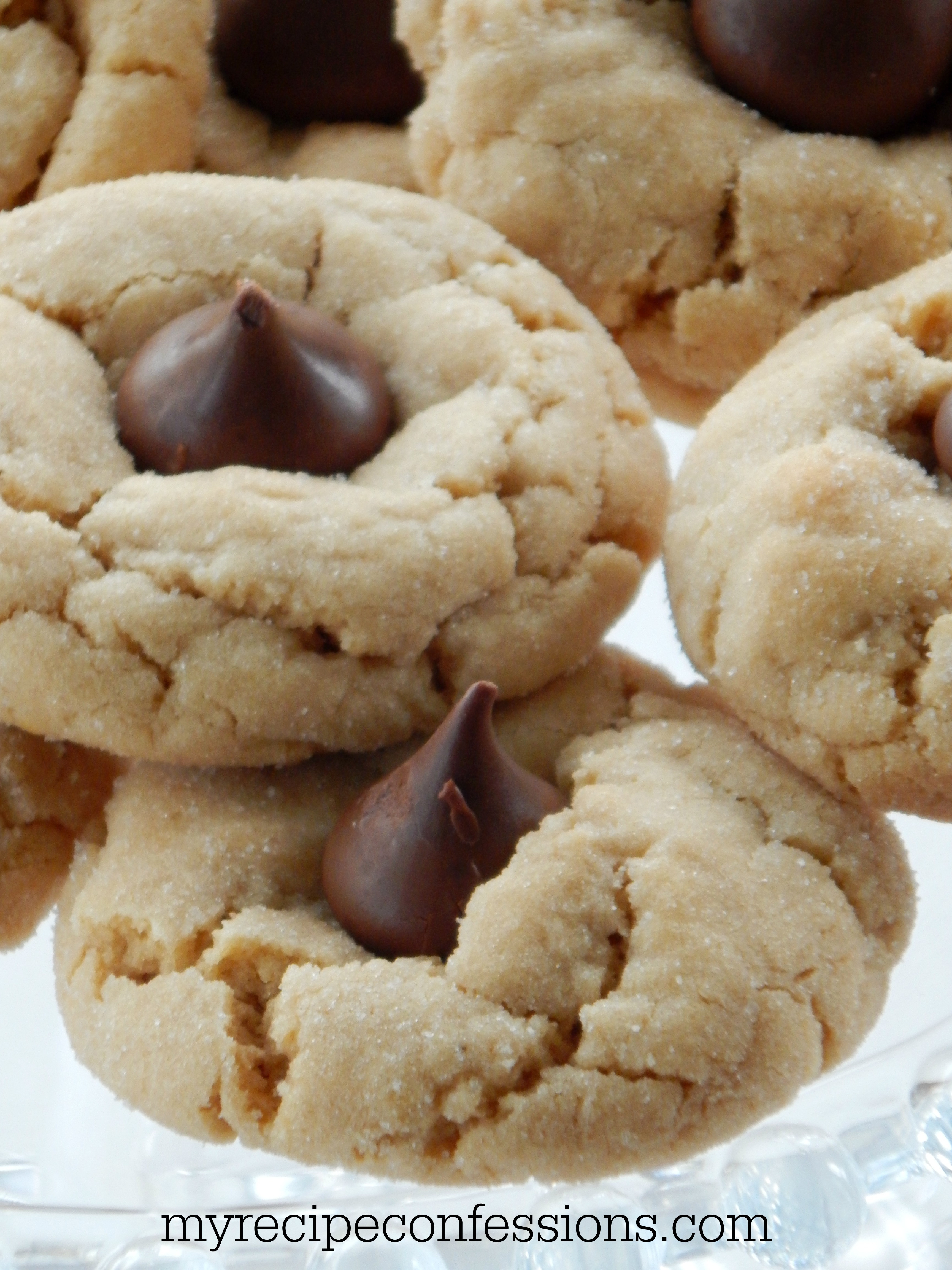 Peanut Butter Cookies With Hershey Kiss  myrecipeconfessions