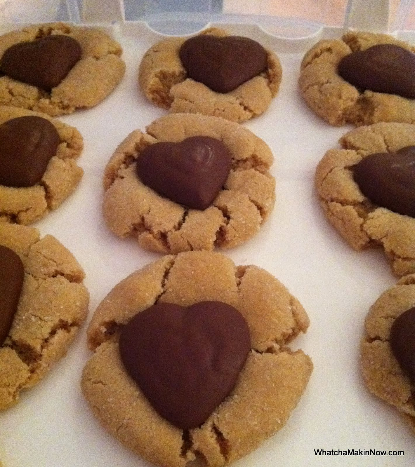 Peanut Butter Cookies With Kisses  Whatcha Makin Now Chocolate Kiss Cookies Peanut Butter