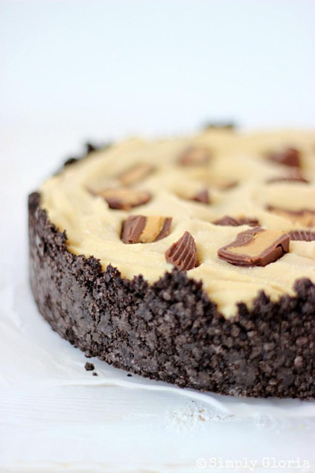 Peanut Butter Pie With Oreo Crust  Peanut Butter Frozen Custard Pie