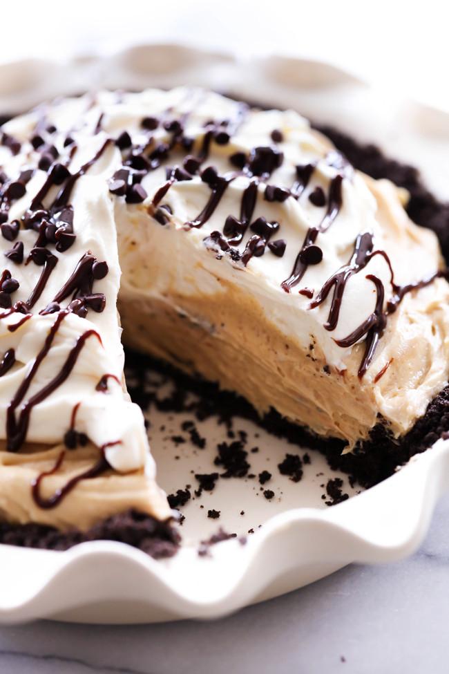 Peanut Butter Pie With Oreo Crust  peanut butter chocolate pie with oreo crust