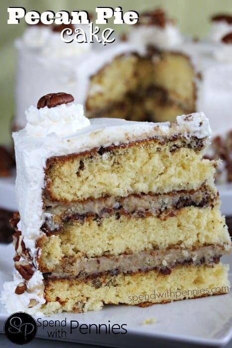 Pecan Pie Cake  Keep Your Fork Good Things are ing Pecan Cake