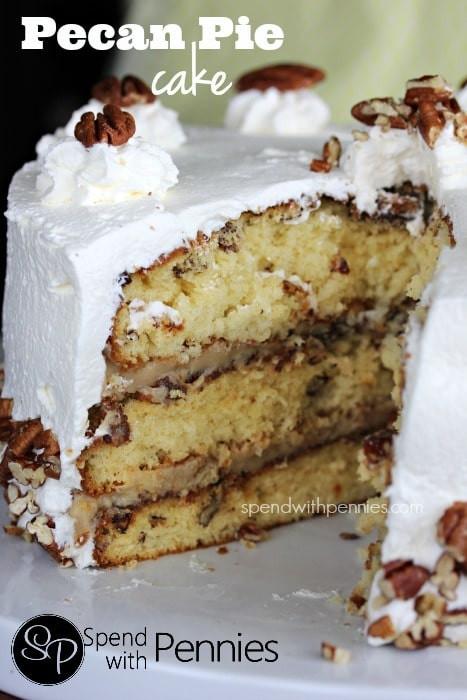 Pecan Pie Cake  Pecan Pie Cake Spend With Pennies
