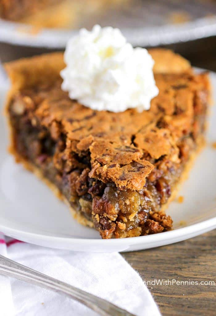 Pecan Pie No Corn Syrup  Easy Pecan Pie Made without Corn Syrup Spend With Pennies