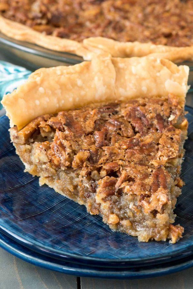 Pecan Pie No Corn Syrup  Elmer s Brown Sugar Pecan Pie Crazy for Crust