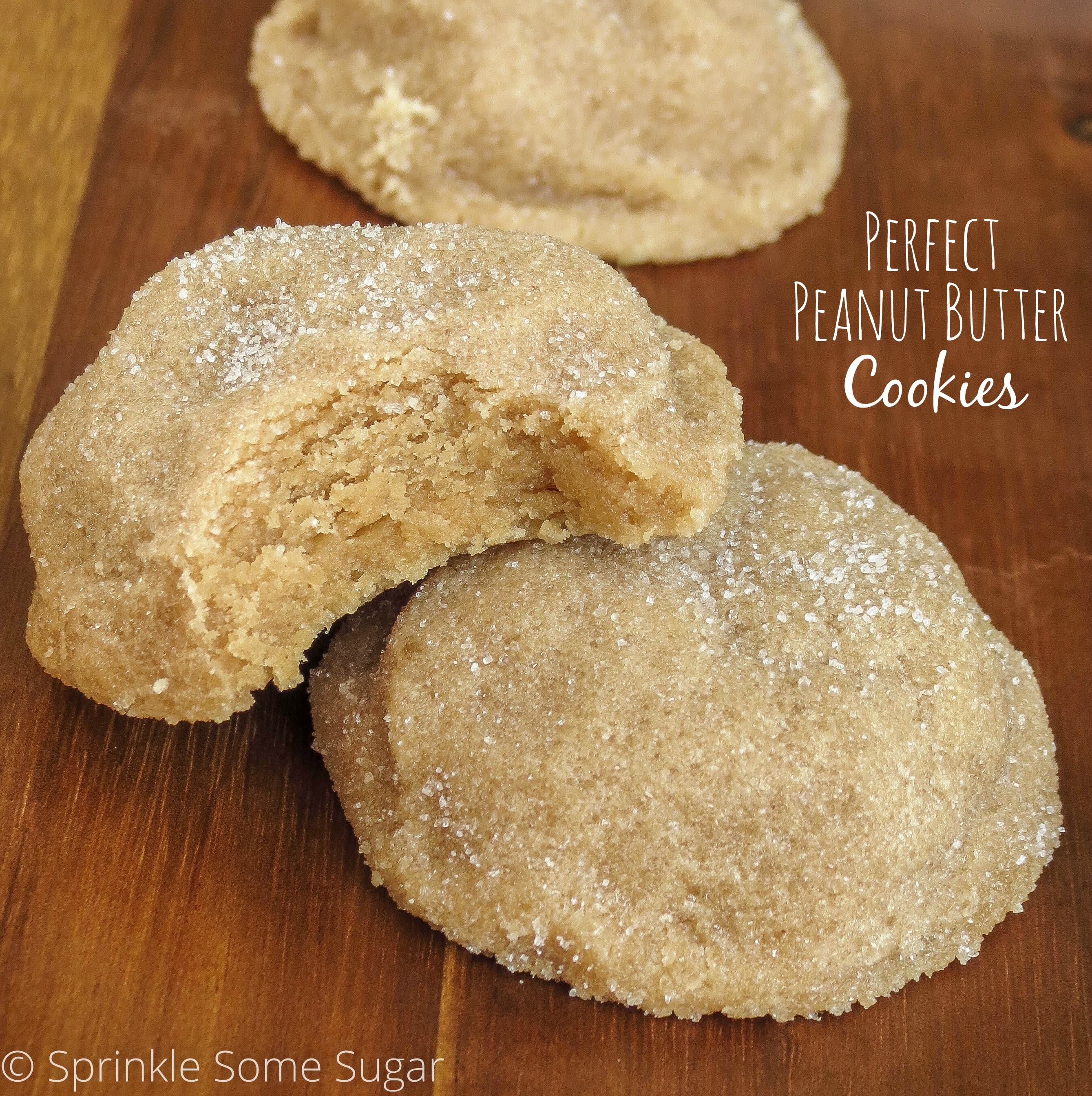 Penut Butter Cookies  Perfect Peanut Butter Cookies Sprinkle Some Sugar