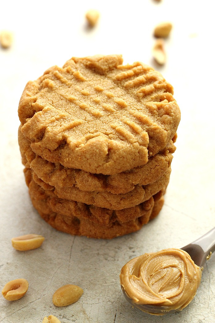 Penut Butter Cookies  Flourless Peanut Butter Cookies