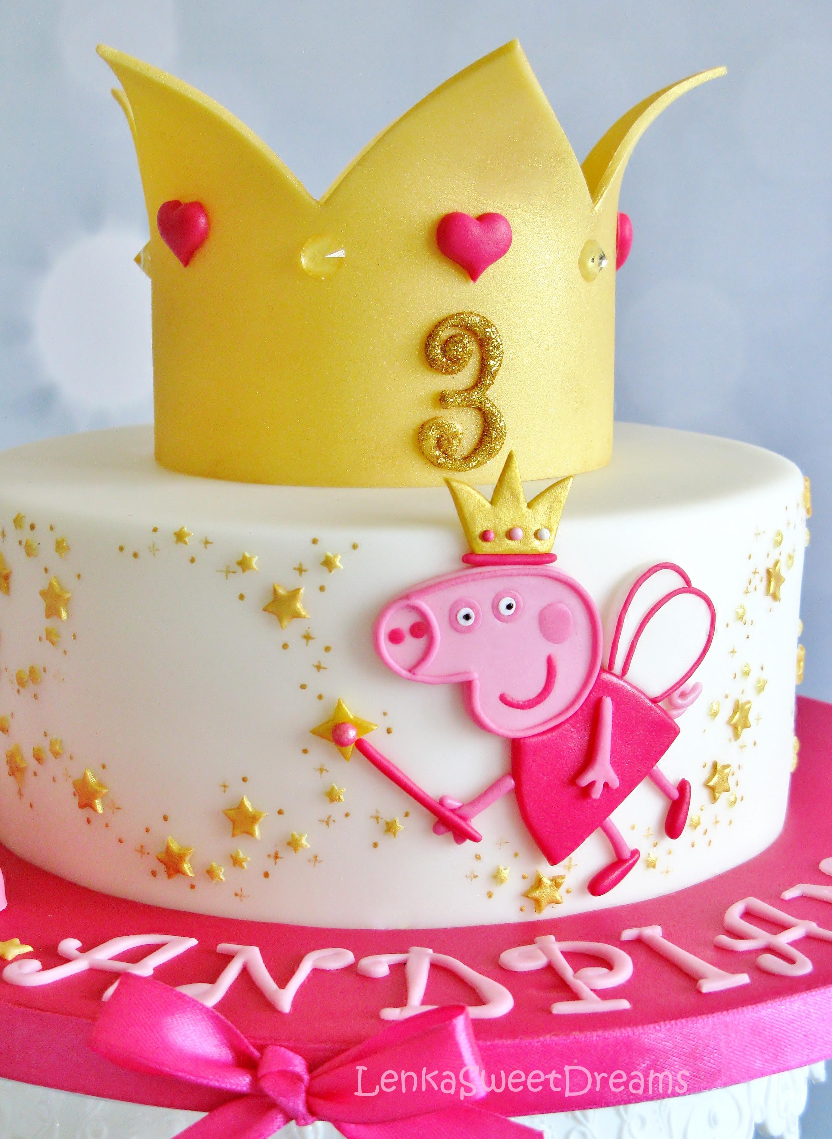 Peppa Pig Birthday Cake  Princess Peppa Pig Cake CakeCentral