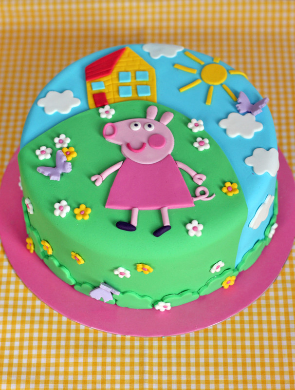 Peppa Pig Birthday Cake  butter hearts sugar Peppa Pig Birthday Cake