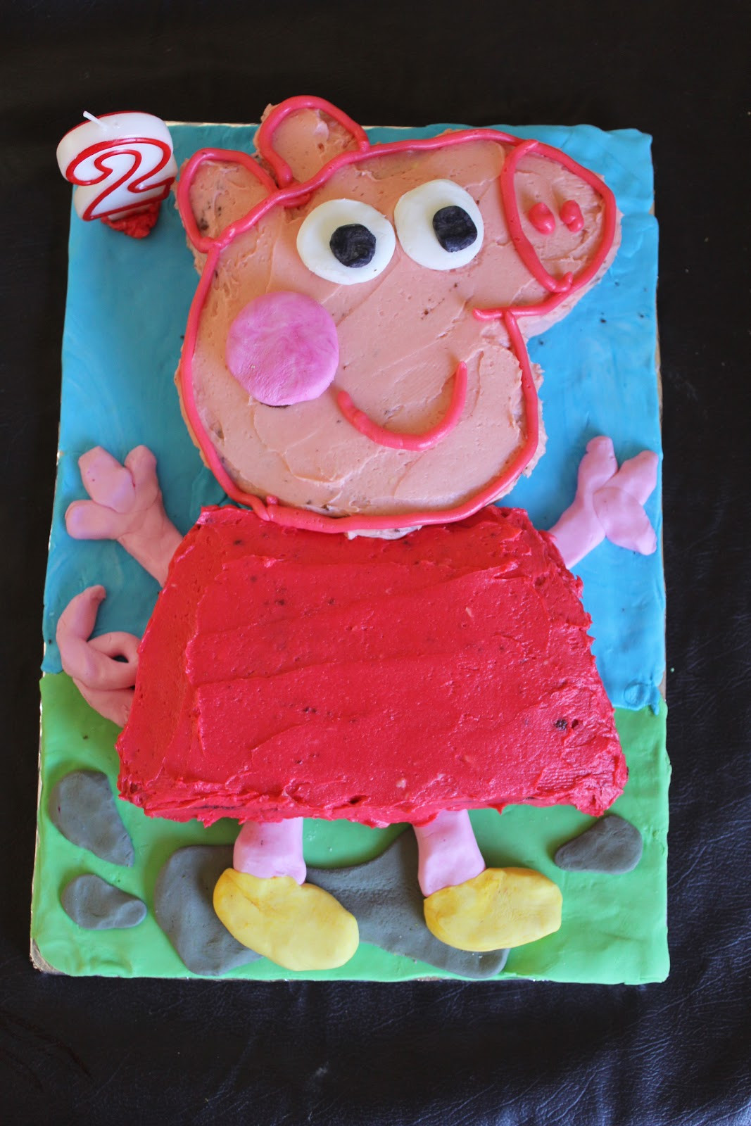 Peppa Pig Birthday Cake  justfordaisy Peppa Pig Birthday Cake DIY
