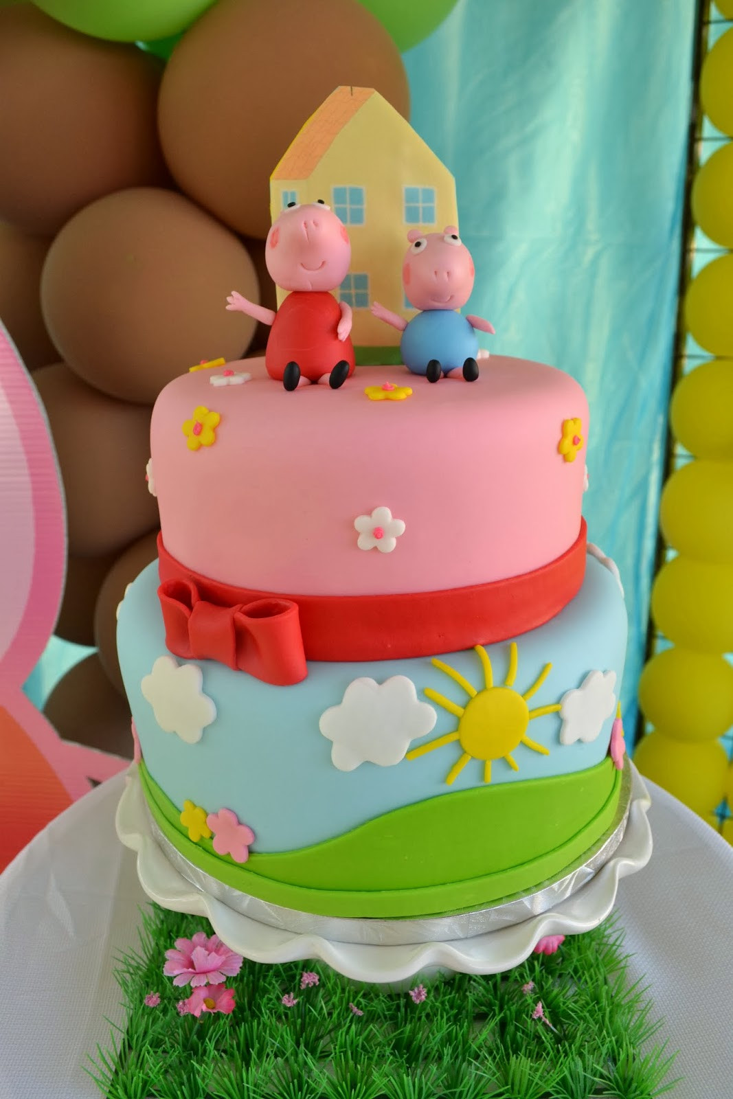 Peppa Pig Birthday Cake  Partylicious Events PR Peppa Pig Party