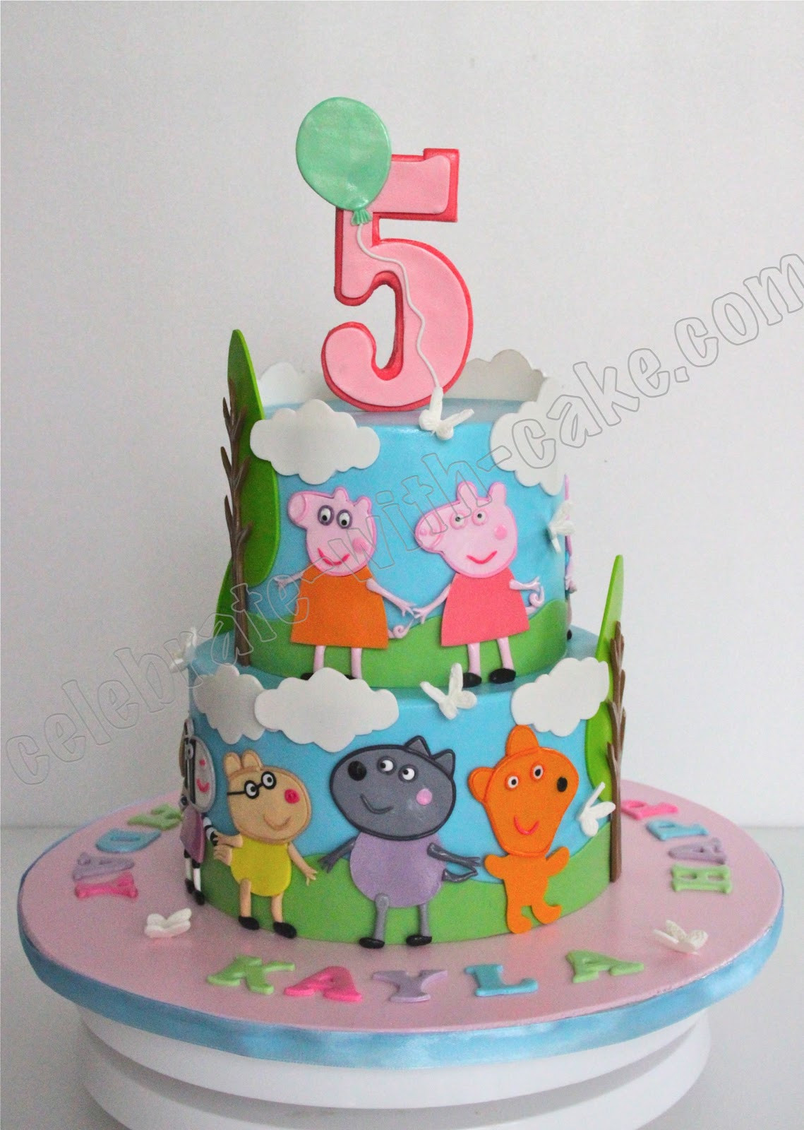 Peppa Pig Birthday Cake  Celebrate with Cake Peppa Pig Cake