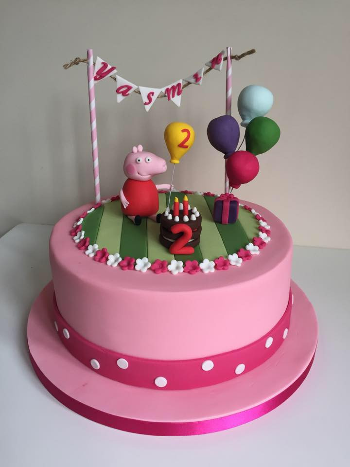 Peppa Pig Birthday Cake  make peppa pig birthday cake Peppa Pig Birthday Cake for