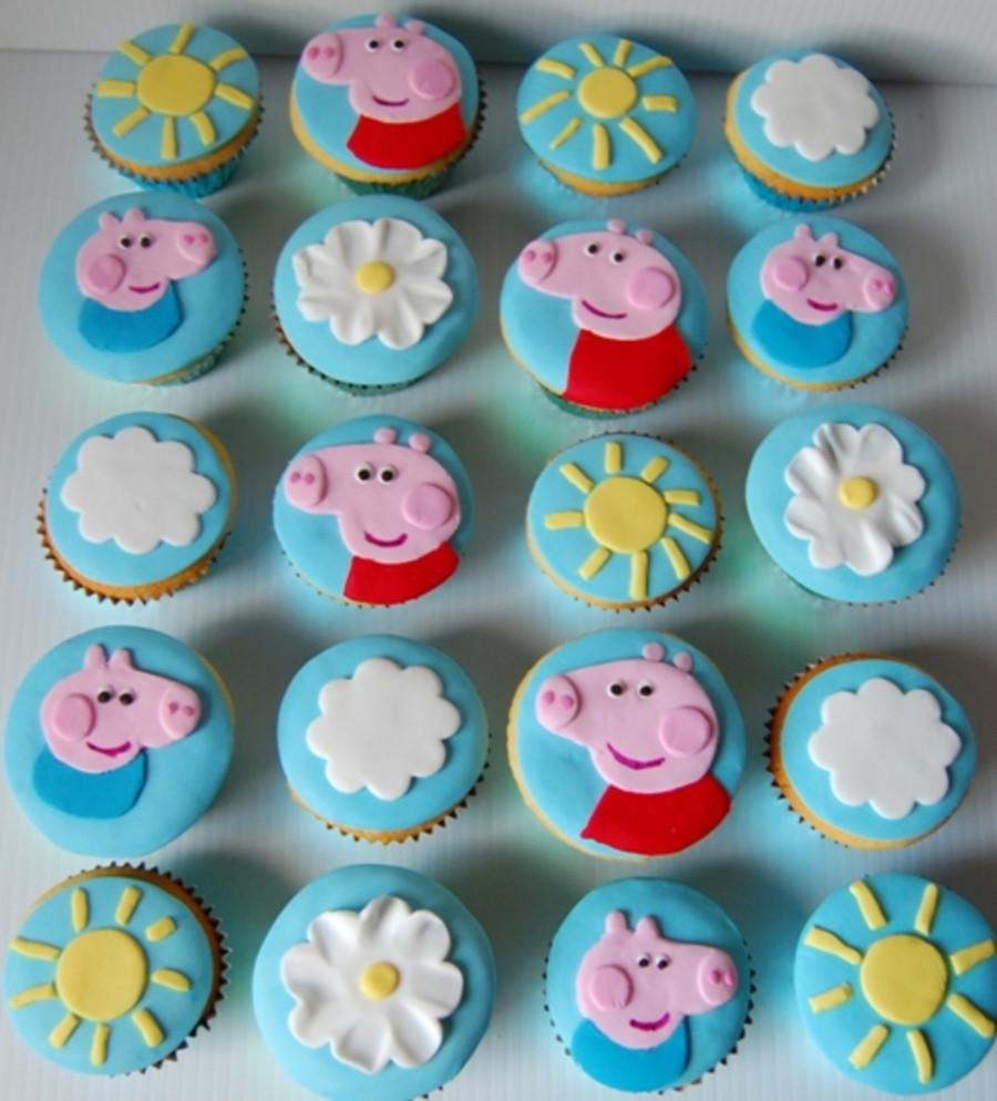 Peppa Pig Cupcakes  Peppa Pig Cupcakes CakeCentral