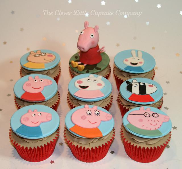 Peppa Pig Cupcakes  Peppa Pig Cupcakes