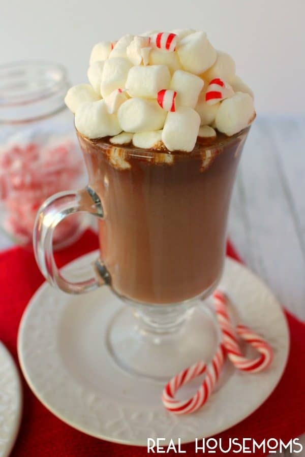 Peppermint Hot Chocolate  Spiked Peppermint Hot Chocolate ⋆ Real Housemoms