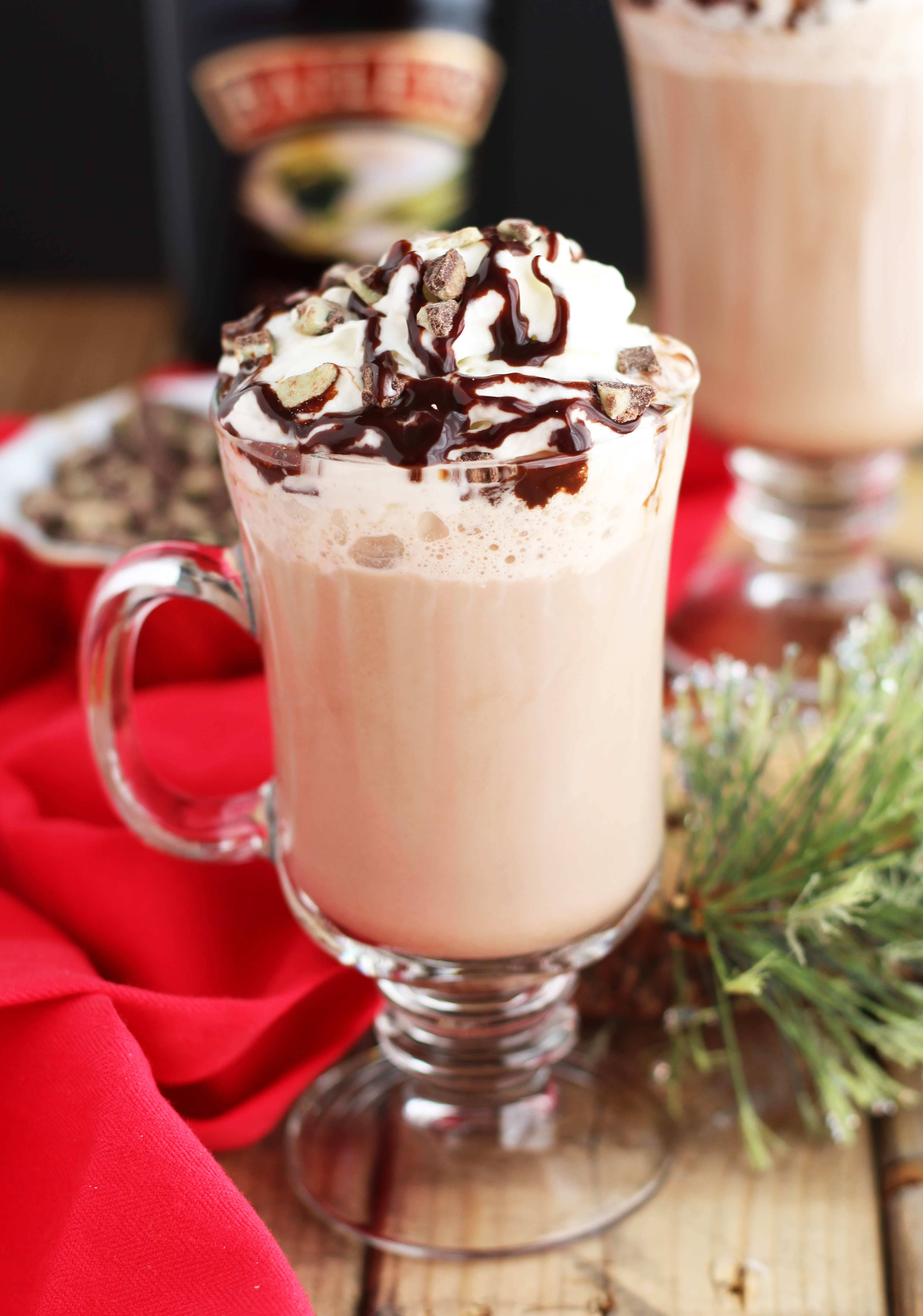 Peppermint Hot Chocolate  Baileys Peppermint Hot Chocolate