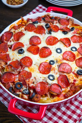 Pepperoni Pizza Casserole  All About Women s Things Baked Pepperoni Casserole