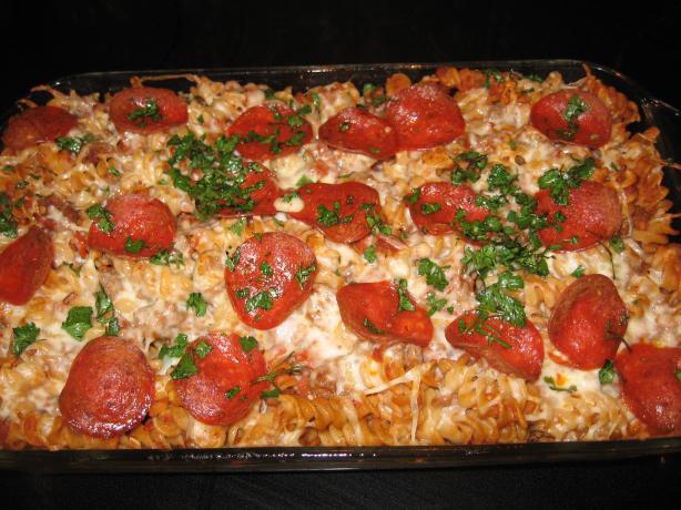 Pepperoni Pizza Casserole  Pepperoni Pizza Casserole Recipe — Dishmaps