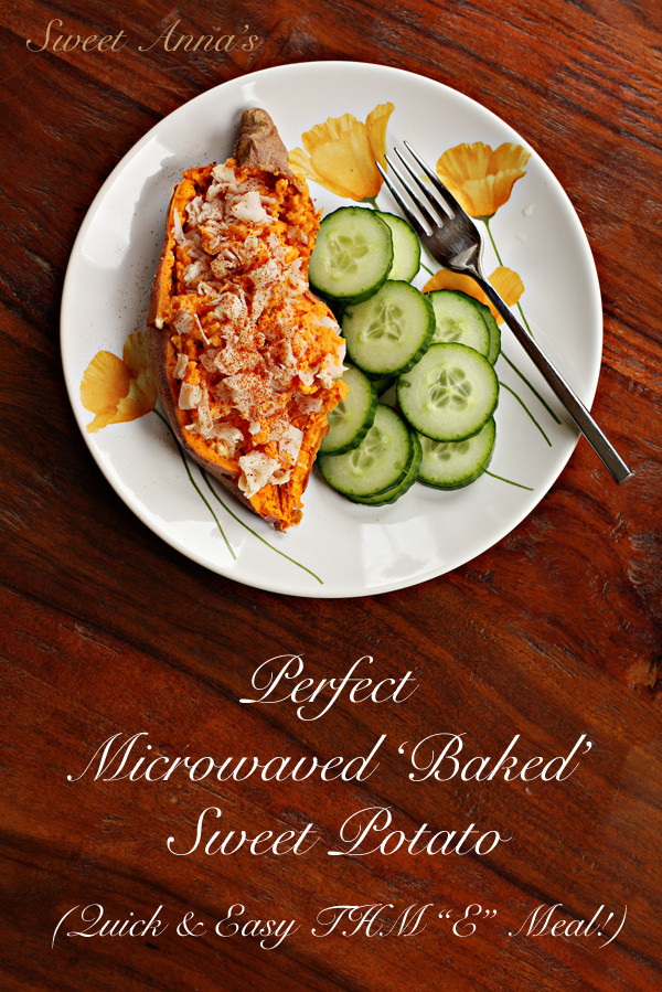 Perfect Baked Sweet Potato  perfect microwaved baked sweet potato
