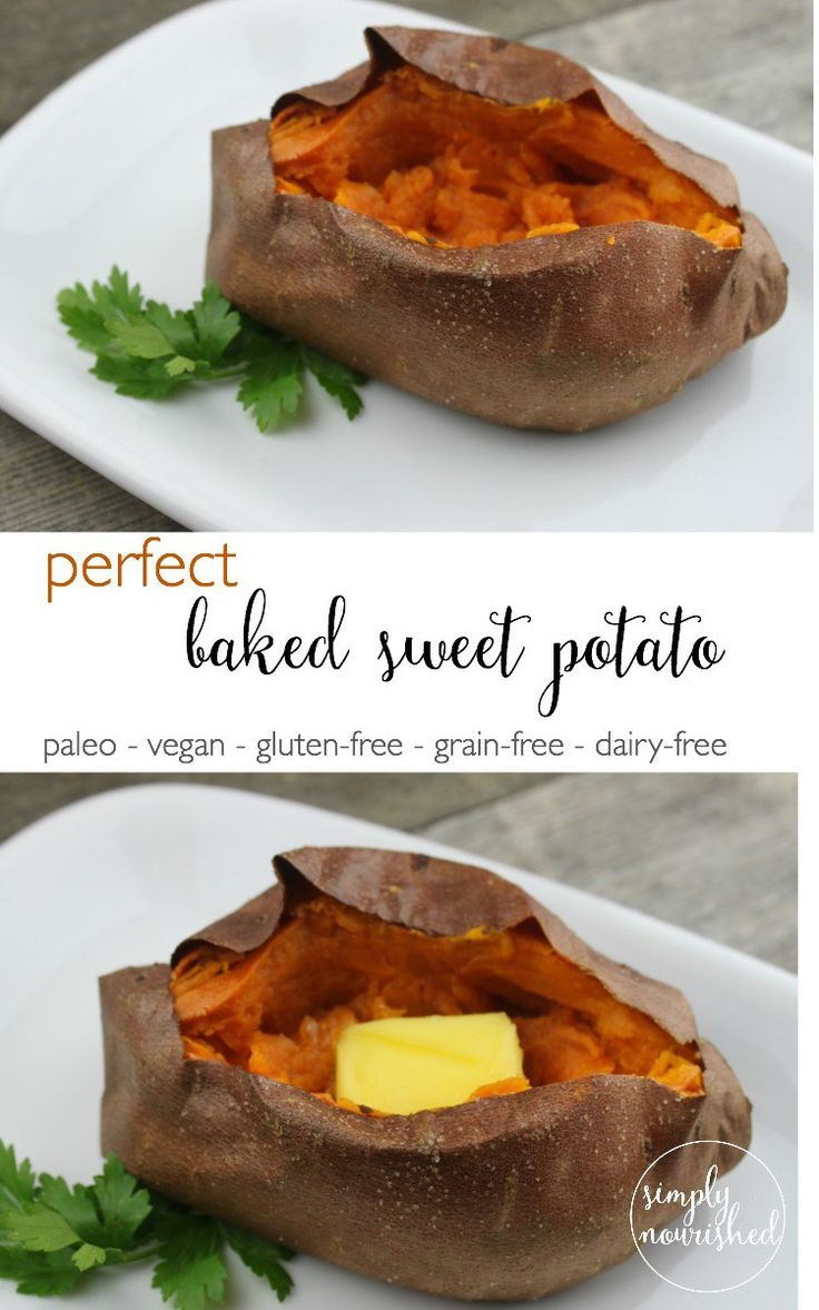 Perfect Baked Sweet Potato  Baked Sweet Potatoes Recipe