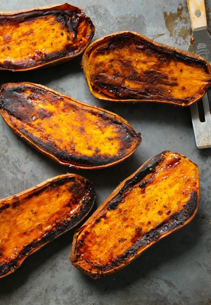 Perfect Baked Sweet Potato  Perfect 30 Minute Baked Sweet Potatoes Layers of Happiness