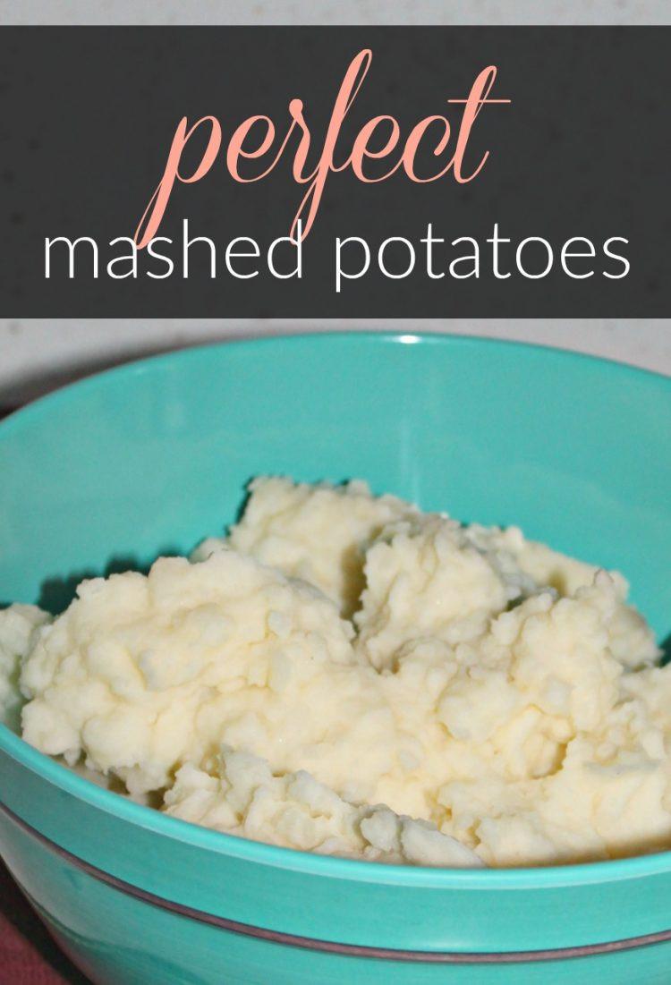 Perfect Mashed Potatoes  chocolate chip muffins
