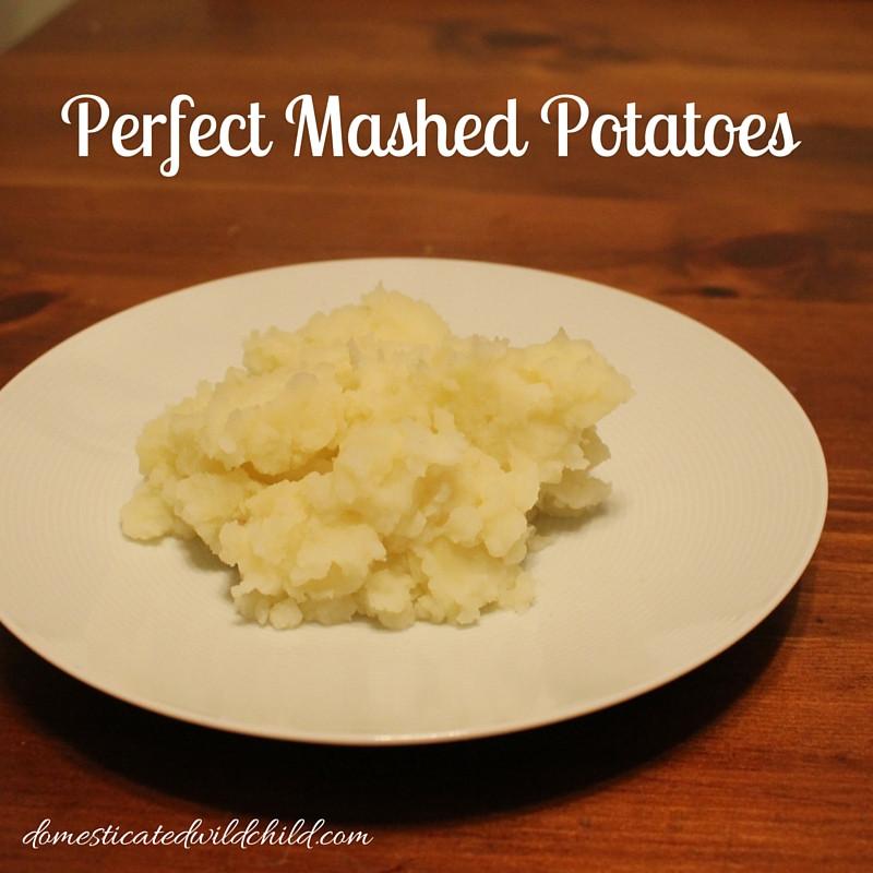 Perfect Mashed Potatoes  Perfect Mashed Potatoes Domesticated Wild Child