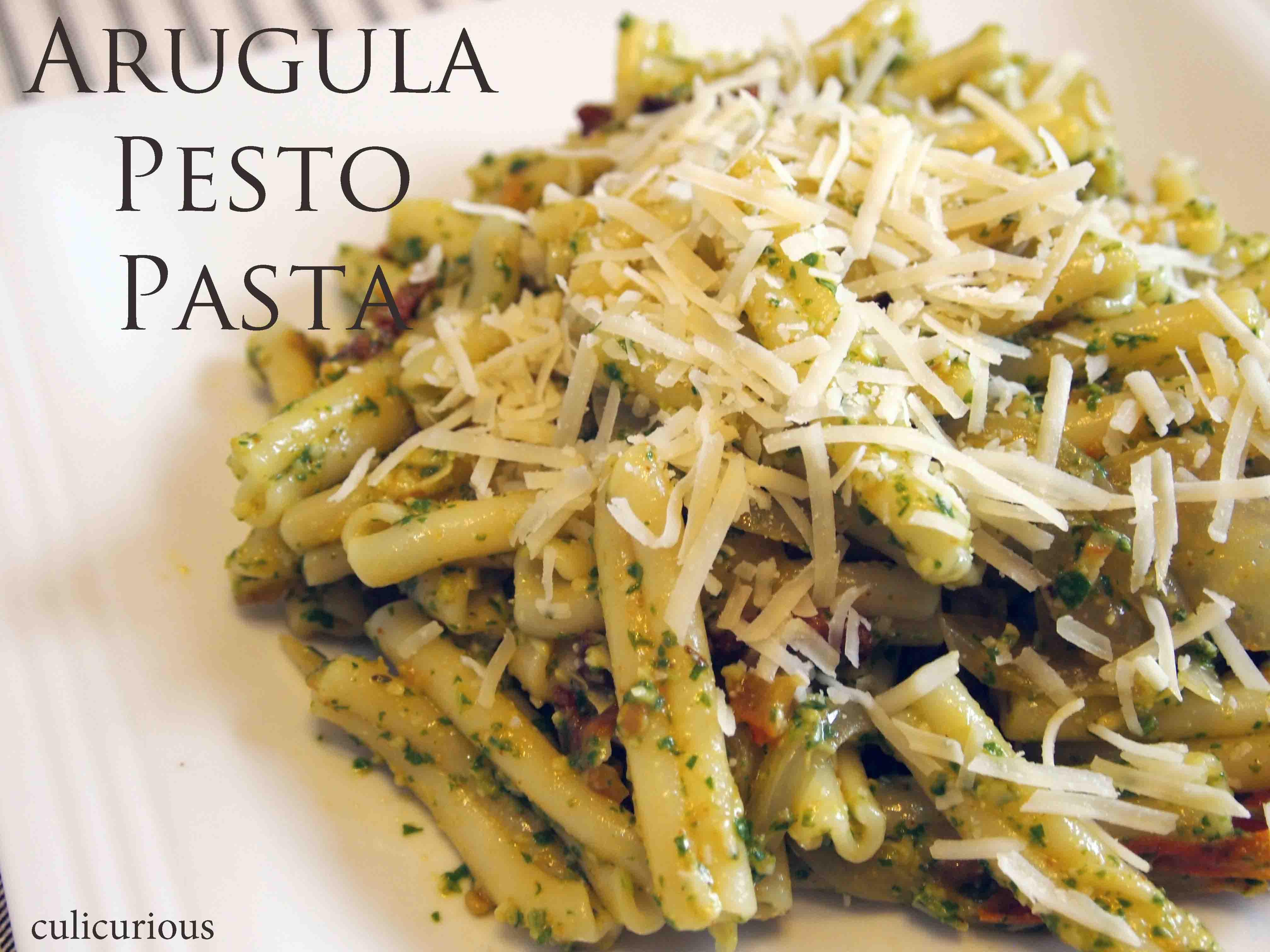 Pesto Sauce Pasta  Arugula Pesto Pasta Recipe culicurious