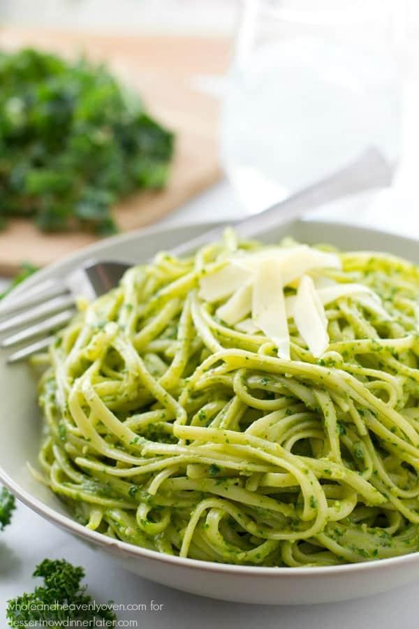 Pesto Sauce Pasta  Creamy Pesto Alfredo Fettuccine