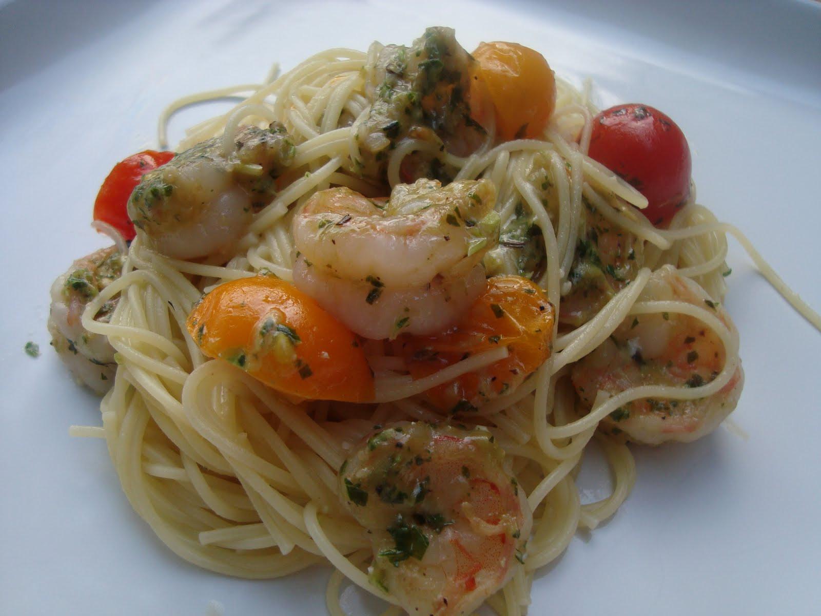 Pesto Shrimp Pasta  A Couple in the Kitchen Pesto Shrimp Pasta