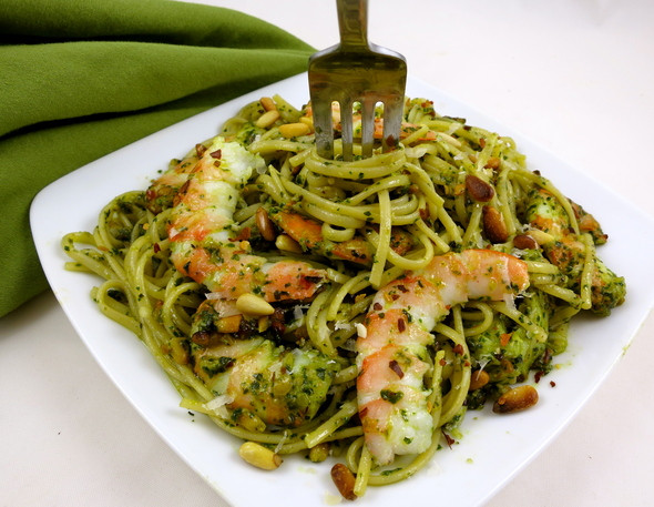 Pesto Shrimp Pasta  Basil Pesto Shrimp and Pasta quality ingre nts make a