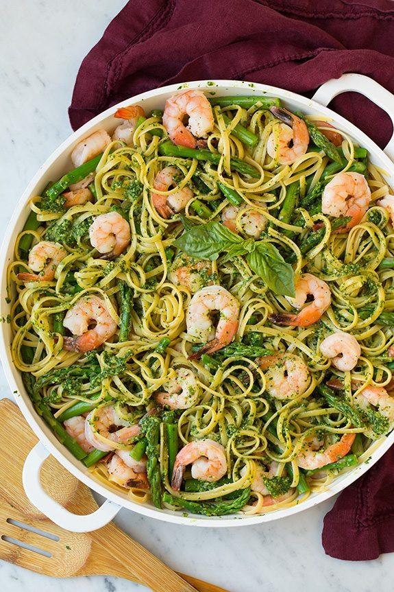 Pesto Shrimp Pasta  Pesto Pasta with Shrimp and Asparagus Cooking Classy