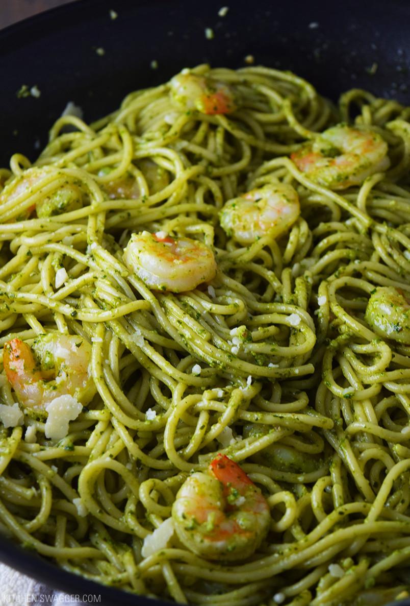 Pesto Shrimp Pasta  Pesto Shrimp Pasta Recipe