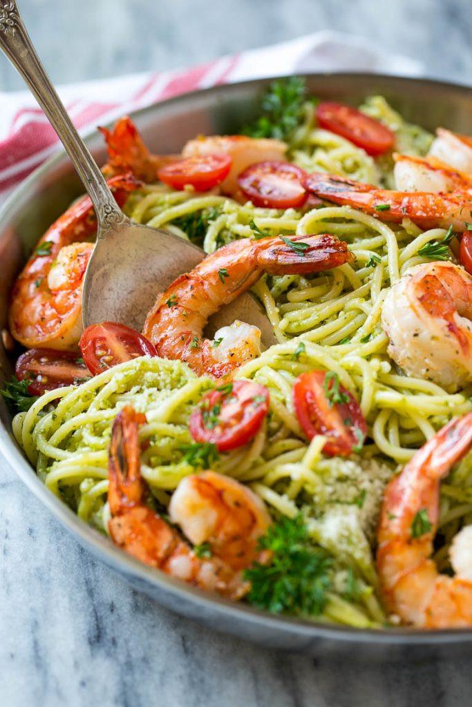 Pesto Shrimp Pasta  Shrimp Pesto Pasta Dinner at the Zoo