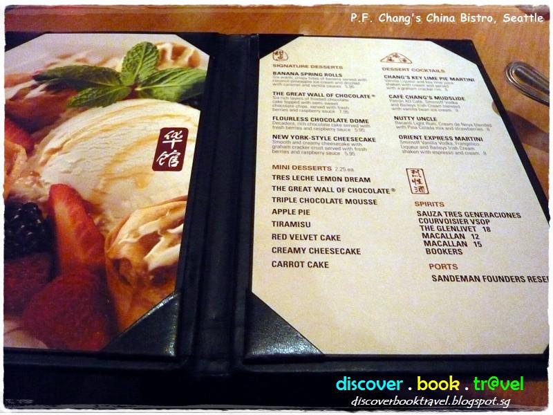 Pf Changs Dessert Menu  Restaurant Review P F Chang's China Bistro Seattle