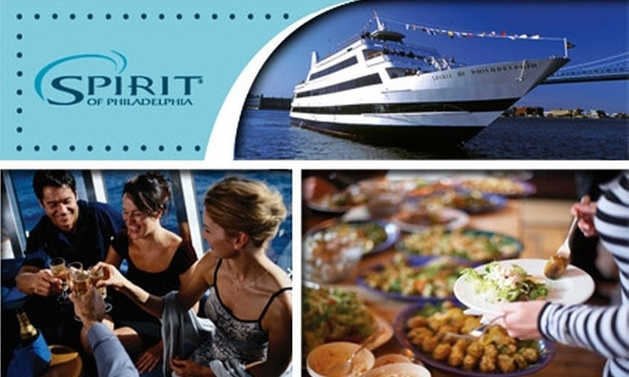 Philadelphia Dinner Cruise  $49 for a Ticket to a Spirit of Philadelphia Dinner Cruise