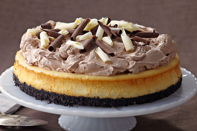 Philidelphia Cream Cheesecake Recipe  PHILADELPHIA Triple Chocolate Cheesecake Kraft Recipes